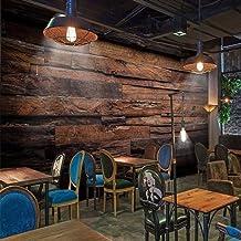BHXIAOBAOZI muurschilderingen, op maat behangmuurschilderingen grote muurschilderingen Retro nostalgische houten panelen h...