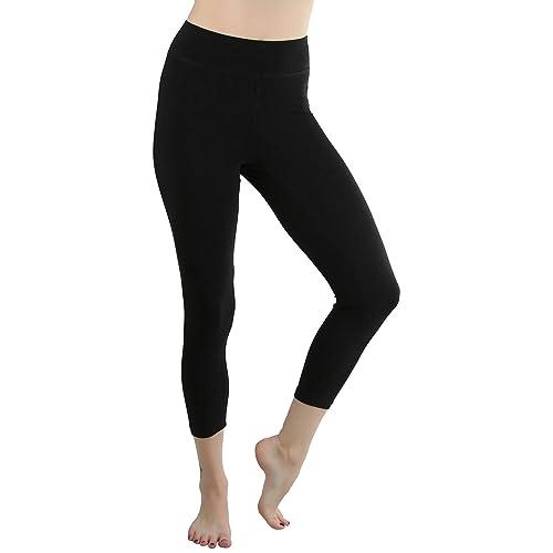 efa23cf00502bc ToBeInStyle Women's Cotton-Spandex Capri Leggings