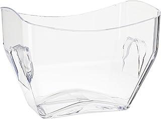 """Prodyne On Ice Beverage Tub, 12.5"""" x 8.5"""" x 9.75"""", Clear"""