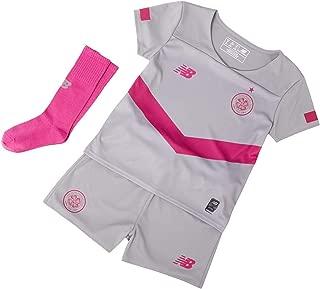 New Balance Celtic FC 2019/20 Junior Kids Football Third Mini Kit Grey/Pink