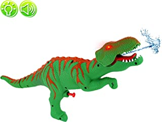 Big Mo's Toys Dinosaur Watergun - Jurassic T-rex Green Water Squirt Blasters Dino Gun Shooter with Lights and Sounds