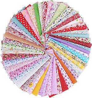 50 piezas tela de algodón Floral estampada sin repetición Patchwork 20 * 20 cm artesanía de Retazos para acolchar Patchwork DIY manualidades de costura hechas a mano