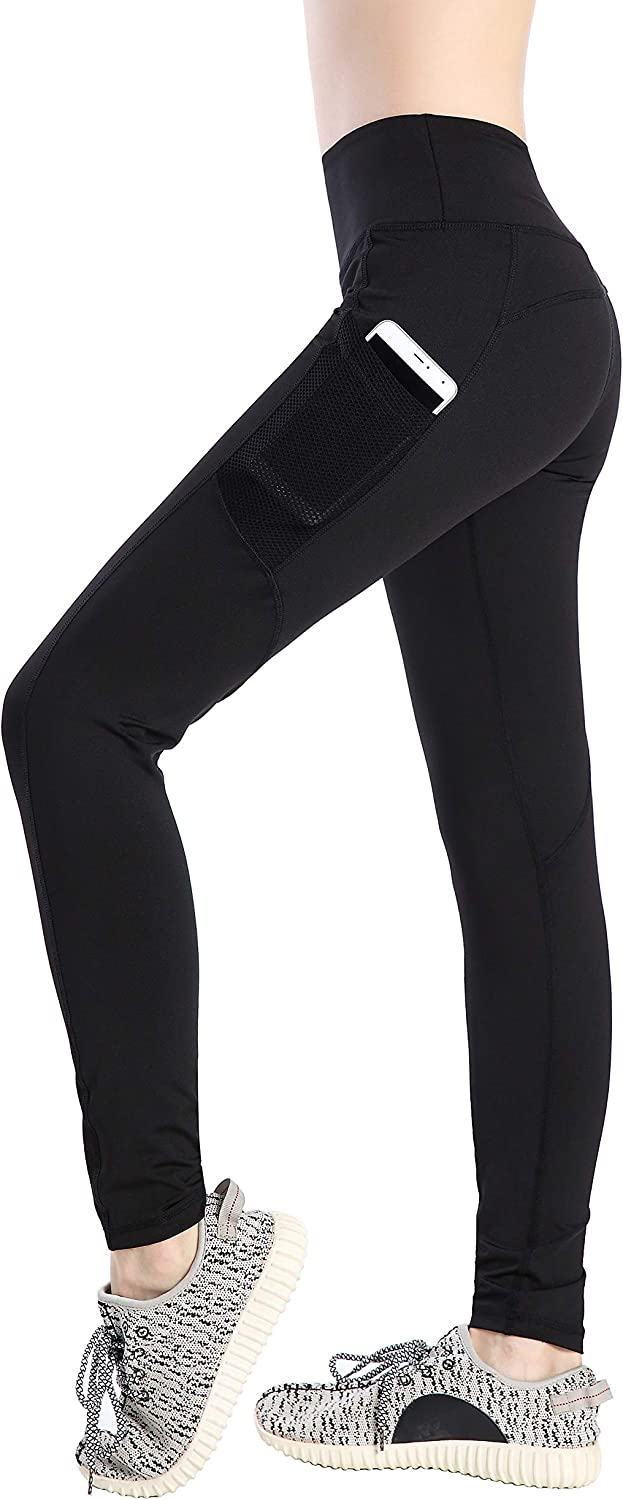 Annjoli Women's Workout Leggings Running Tights Yoga Leggings Exercise Workout Pants