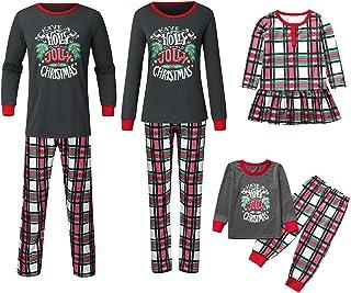 K-Youth Ropa para Padres e Hijos Pijamas de Navidad Familia Conjuntos Bebe Niño Navidad Vestido Bebé Niña Pareja Ropa Mujer Hombre Invierno Ropa de Dormir Familiares Navideño