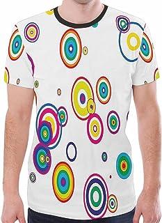 ananda Mens Tops Casual Short Sleeve Crew Neck Cotton Plain T Shirts