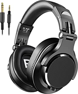 bopmen Bopmen Over Ear Headphones - Wired Studio Headphones with Shareport, Foldable Headsets with Stereo Bass Sound for Monitoring Recording Keyboard Guitar Amp DJ Cellphone, Black