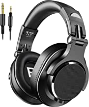 Bopmen Over Ear Headphones - Wired Studio Headphones with Shareport, Foldable Headsets with Stereo Bass Sound for Monitoring Recording Keyboard Guitar Amp DJ Cellphone, Black, Model: Y71
