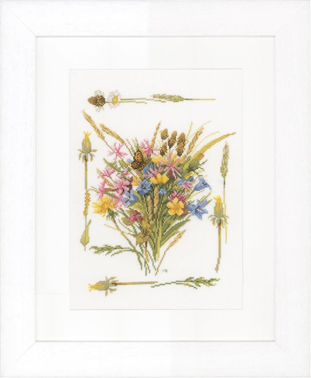 Lanarte Counted Cross Ranking TOP20 Stitch Kit: Field Aida Genuine Bouquet