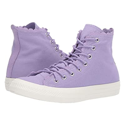 Converse Chuck Taylor All Star Frilly Thrills Canvas Hi (Washed Lilac/Washed Lilac/Egret) Women