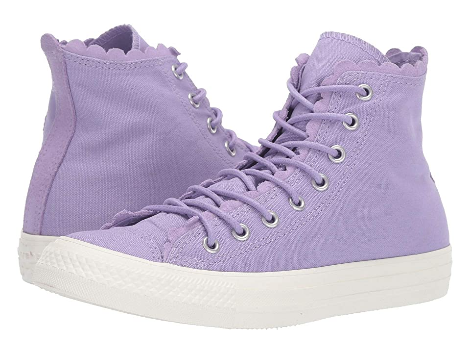 96d6b2840948 Converse Chuck Taylor All Star Frilly Thrills Canvas Hi (Washed  Lilac Washed Lilac Egret) Women s Classic Shoes