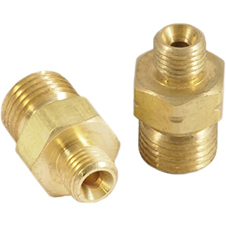 """Acetylene Adapter /""""A/"""" LH Inlet to /""""B/"""" LH Hose Nuts F58L"""