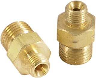 Forney 86152 Oxygen Acetylene Brass Fitting, Oxygen and Acetylene Hose Couplers, Adapters A to B Oxygen and Acetylene, Carded Pair