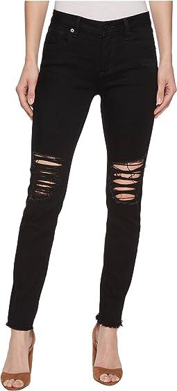 Miss Me Skinny Destructed Jeans in Black