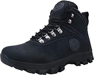 Caitin Men's Insulated Cold-Weather Boots Durable Hiking Boots