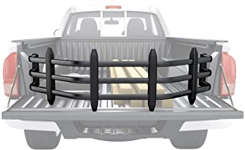 AA Products Aluminum Alloy Bed Extender, Strong Universal Pickup Truck Bed Extender w/Bracket Kit Black