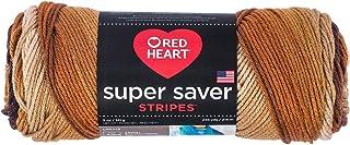 RED HEART Super Saver yarn, Latte Stripe