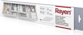 comprar comparacion Rayen - Divisor de cajones adaptable. Separador de cajones con infinitas combinaciones. Organizador de cajones multifuncio...