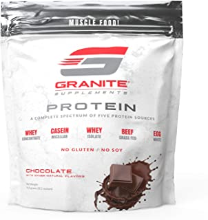 Protein Powder by Granite | 30 Servings of Complete Spectrum Protein to Build Lean Muscle | 5 Protein Sources: Whey Concen...