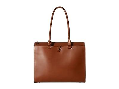 Lodis Accessories Audrey RFID Jessica Work Satchel (Sequoia/Papaya) Satchel Handbags