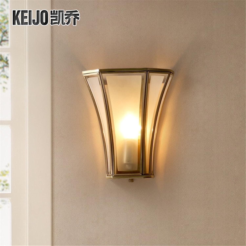 StiefelU LED Wandleuchte nach oben und unten Wandleuchten Wand lampe Nachttischlampe über Treppe, Balkon Wohnzimmer hell braun-Kupfer Schlafzimmer Leuchte