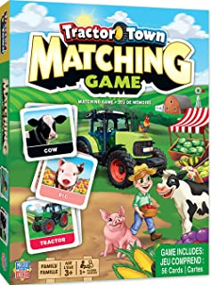 MasterPieces Tractor Town Matching Game, Includes 56 Cards, 1 or More Players, for Ages 3+