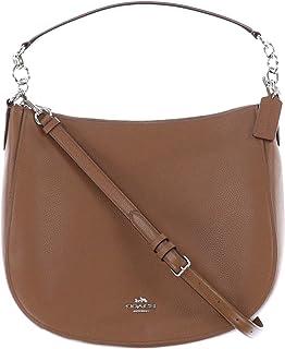 7ec7276421 COACH Women s Polished Pebbled Leather Chelsea 32 Hobo Sv Saddle Handbag