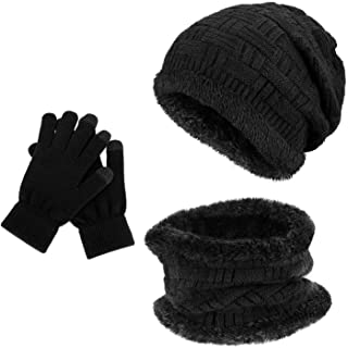 Tommy Hilfiger Flag Knit Beanie /& Gloves GP Set Sciarpa Cappello e Guanti Donna