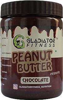 Gladiator Fitness Chocolate Peanut Butter | High Protein | Zero Cholesterol | Vegan | Gluten Free (1Kg, Crunchy)