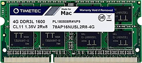 Timetec Hynix IC - Actualización de Memoria SODIMM (4 GB, DDR3, 1600 MHz, PC3-12800, SODIMM)