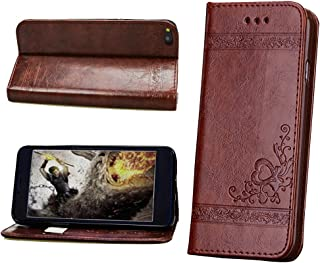 VIGOROSO Luxury Embossed Floral PU Leather Magnetic Wallet Phone Case Phone Cover 5 6 6S 7 Plus