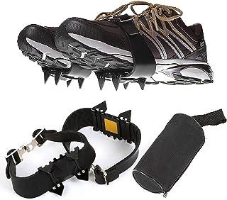 4-tänder sport anti-on-on sko grippers, snöis klättring anti slip spikes grepp skor täcker för män kvinnor barn