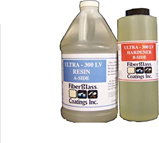 EPOXY Laminating Resin KIT 2:1, 3/4 Gallon, Fiberglass Coatings Inc, High Strength, Easy Wet-Out, Resin Base A & Curing Agent B Included