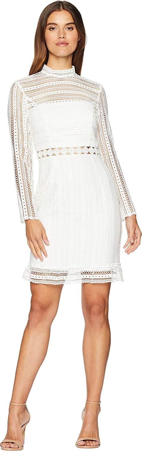 Bardot Women's Vivian Splice Dress Ivory XLarge