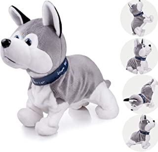 Marsjoy Robot Husky , Plush Stuffed Animal Dog Toy Dog Electronic Dog Toy , Interactive Puppy Plush Animated Dog, Robot Do...