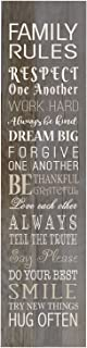 LifeSong Milestones Family Rules Decorative Wall Sign for Living Room entryway, Kitchen, Bedroom,Office, Wedding Ideas (Barnwood)