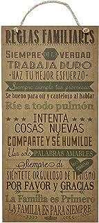 AÑORANZA, Letrero decorativo de madera, Reglas familiares G