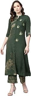 Jaipur Kurti Women's A Line Salwar Suit Set (JKPLZ3884-XL_Green_X-Large)
