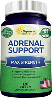 Sponsored Ad - Adrenal Support & Cortisol Manager Supplement (120 Capsules) - Adrenal Health w/Vitamin C Complex Pills to ...
