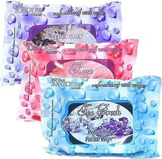 Bonjour Paris Coat Me Wet Wipes, Ice Fresh/Rose Fresh/Lavender Fresh, 200g