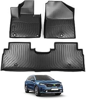 Cartist Floor Mats Custom Fit for Sorento TPO Odorless High Edge Floor Liners Compatible with 2016-2019 2020 Kia Sorento