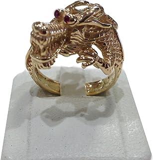 Anello Drago in oro giallo, rubini