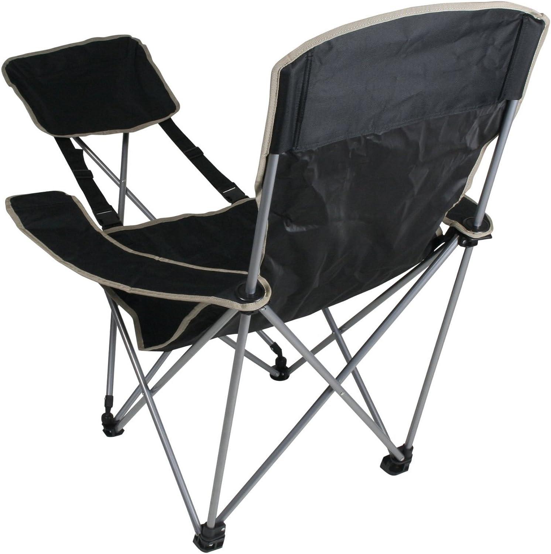 Generic Mobiler Camping-Stuhl mit Fuablage sehr handlich faltbar inkl. Tasche