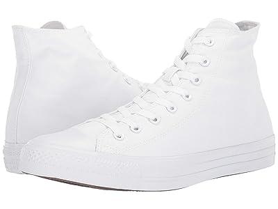 Converse Chuck Taylor(r) All Star(r) Core Hi (White Monochrome) Classic Shoes