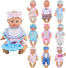 9 Sets for 7-8-9-10 Inch Baby Doll Clothes Reborn Newborn Outfits Costumes with Kitchen Accessory