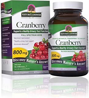 Nature's Answer Cranberry Fruit Vegetarian Capsules, 90-Count | Promotes Urinary Tract Support | Healthy Bladder Function ...