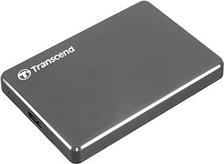 Transcend StoreJet 25C3 2TB Portable Hard Drive (Metal Grey)