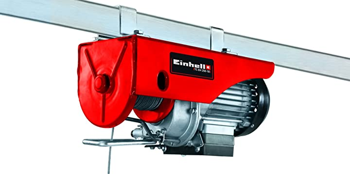 Paranco a fune metallica einhell tc-eh 250-18, 500 w, carico max. 250 kg, altezza sollevamento max. 18 m 2255135