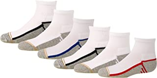 Gold Toe Boys' Athletic Quarter Socks, 6-Pair
