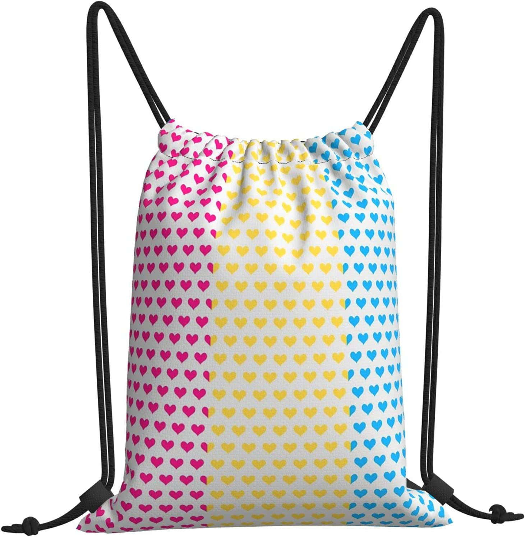 Pan 2021 Hearts Drawstring Bags Backpack Selling rankings Beac Bulk Gym Bag