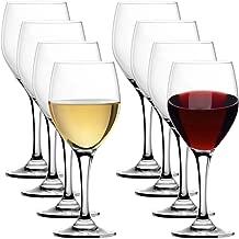 Stolzle (Set of 8) Lead-Free Crystal 15oz Adela Wine Glasses Port Dessert Germany, For Red & White